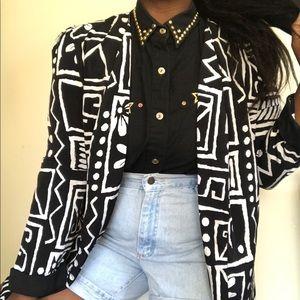 Jackets & Blazers - Vintage tribal print blazer